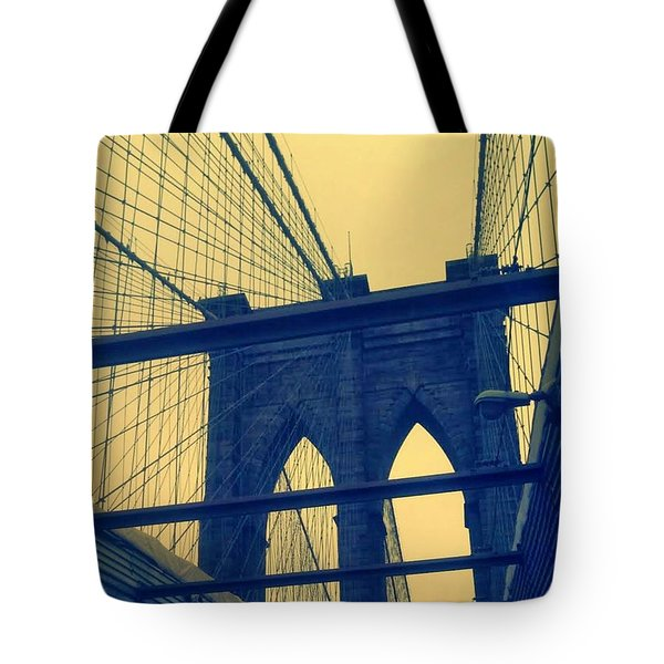 New York City's Famous Brooklyn Bridge Tote Bag