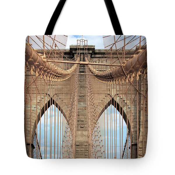 Tote Bag featuring the photograph Brooklyn Bridge 2  by Emmanuel Panagiotakis