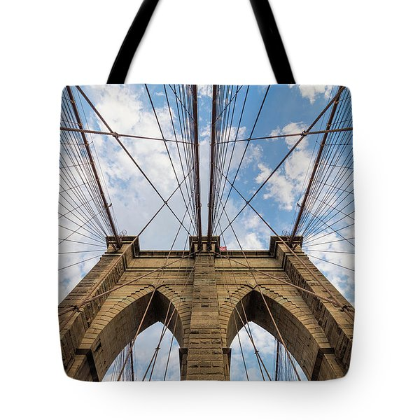 Tote Bag featuring the photograph Brooklyn Bridge 3 by Emmanuel Panagiotakis