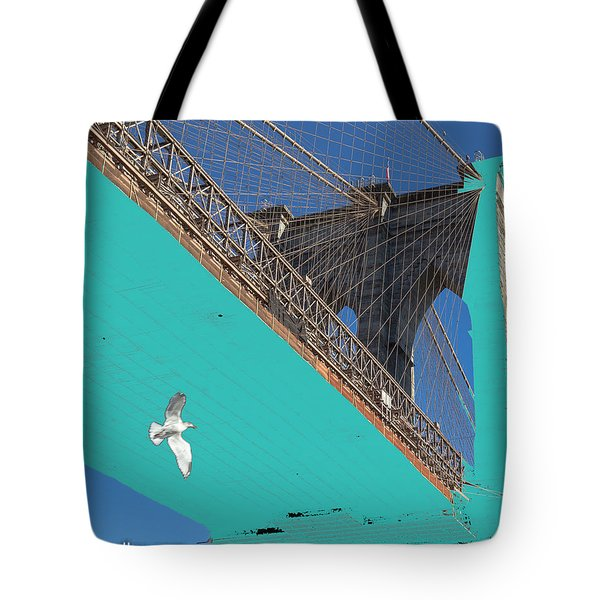 Brooklyn Bridge And Bird Tote Bag