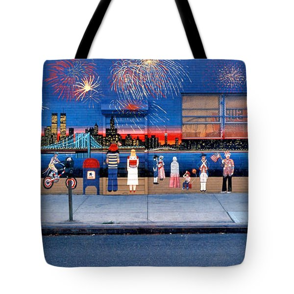 Brooklyn Bridge Fireworks Tote Bag