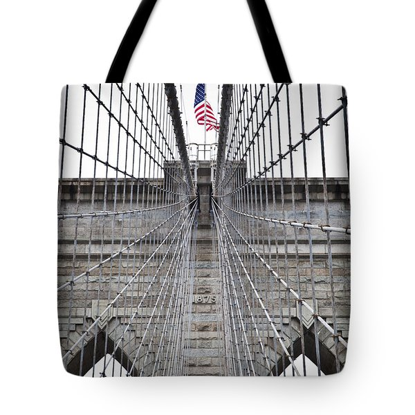Brooklyn Bridge Flag Tote Bag