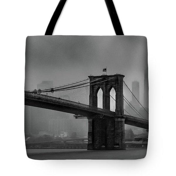 Brooklyn Bridge In A Storm 2 Tote Bag