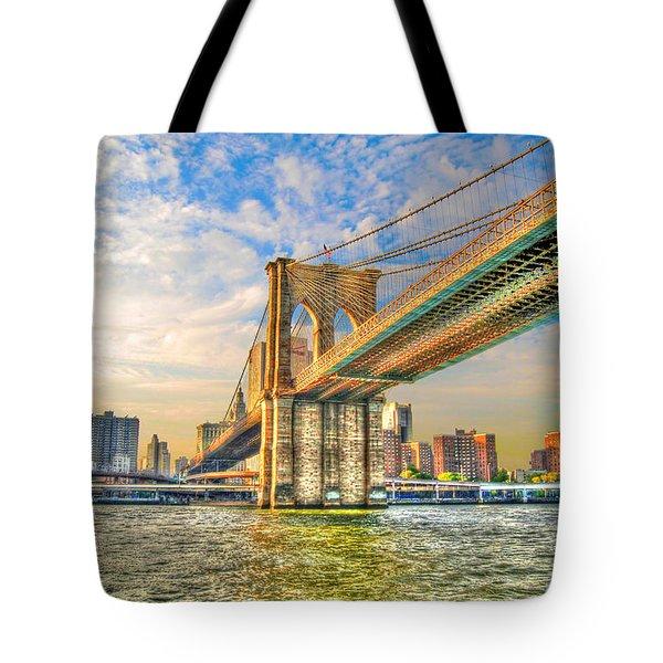Brooklyn Bridge Tote Bag by Randy Aveille