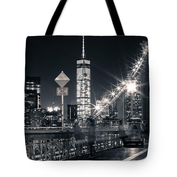 Brooklyn Bridge Tote Bag by Silvia Bruno