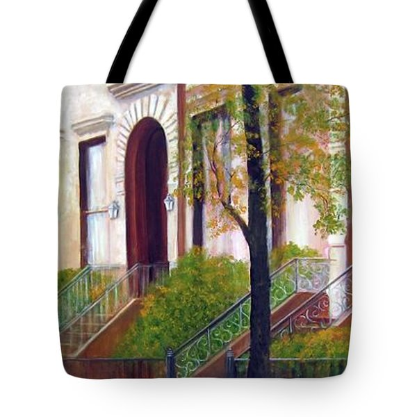 Brooklyn Brownstone Corridor 2 Tote Bag