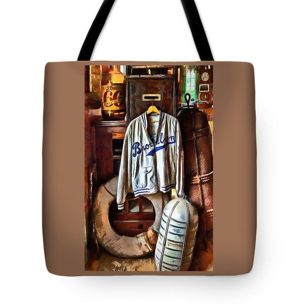Tote Bag featuring the photograph Brooklyn Dodgers Baseball  by Thom Zehrfeld