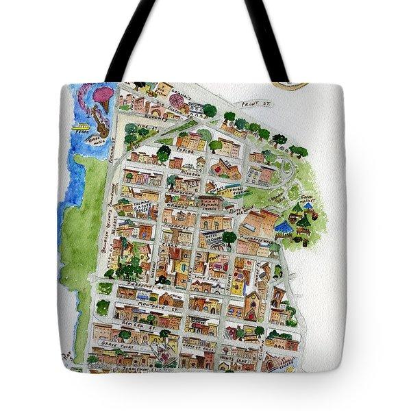 Brooklyn Heights Map Tote Bag