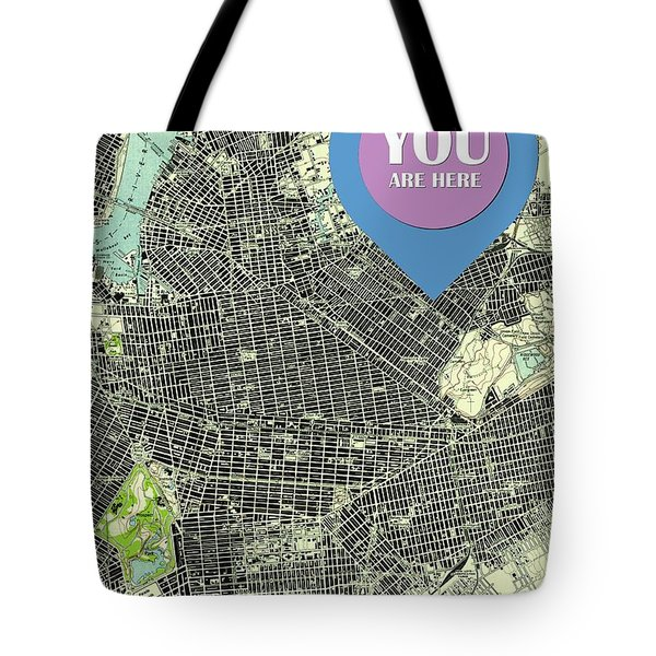 Brooklyn New York 1947 Old Map You Are Here Tote Bag