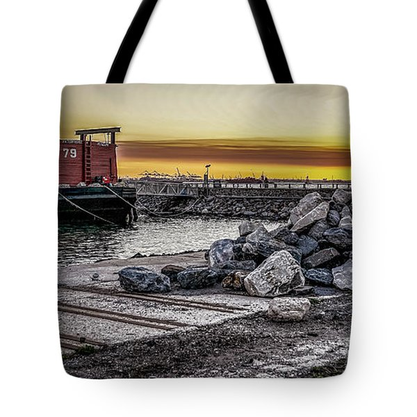 Brooklyn Waterfront Sunset Tote Bag by Jeffrey Friedkin