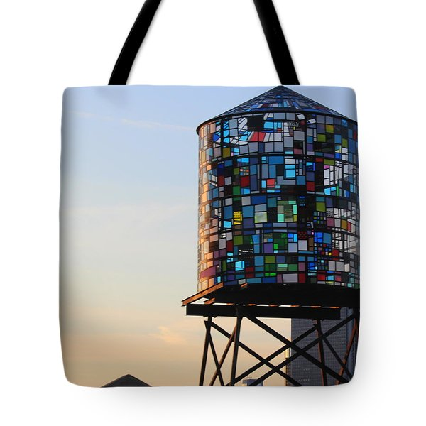 Brooklyn's Glowing Glass Water Tower - Public Art Tote Bag