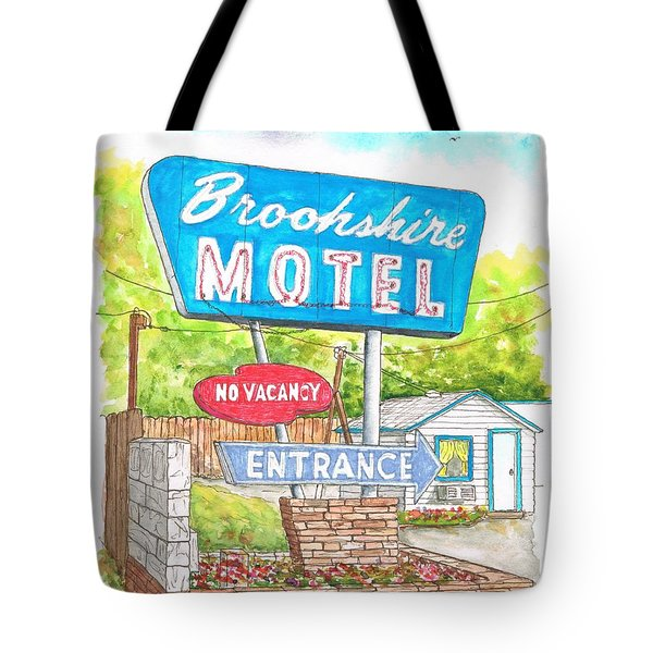 Brookshire Motel In Route 66, Tulsa, Oklahoma Tote Bag