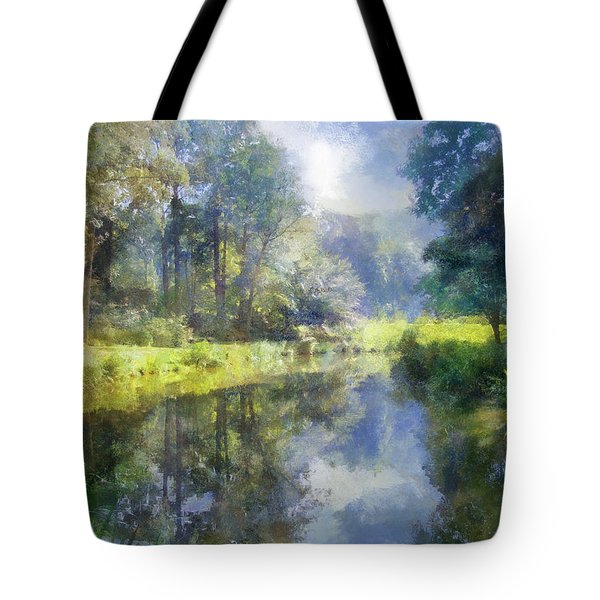 Tote Bag featuring the digital art Brookside by Francesa Miller