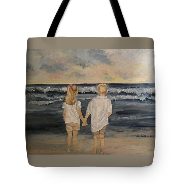 Brother And Sister Tote Bag by Julie Brugh Riffey