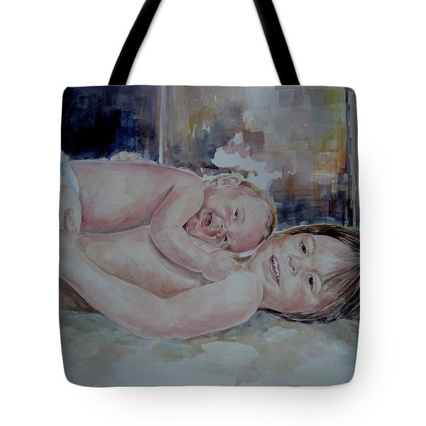 Brother And Sister Play Tote Bag