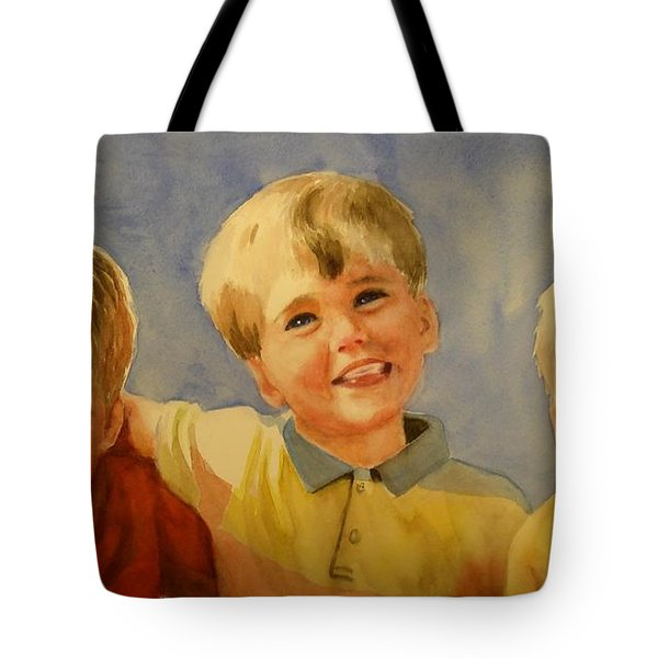 Brothers Tote Bag by Marilyn Jacobson