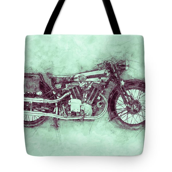 Brough Superior Ss100 - 1924 - Motorcycle Poster 3 - Automotive Art Tote Bag