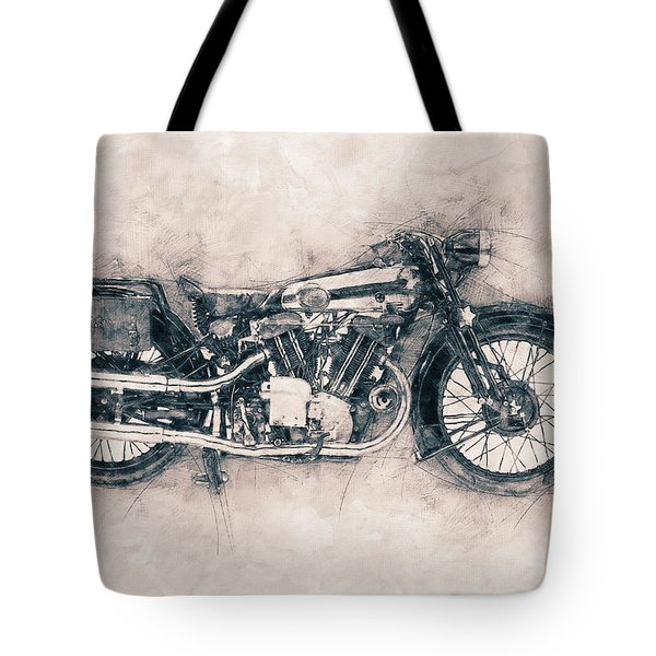 Brough Superior Ss100 - 1924 - Motorcycle Poster - Automotive Art Tote Bag