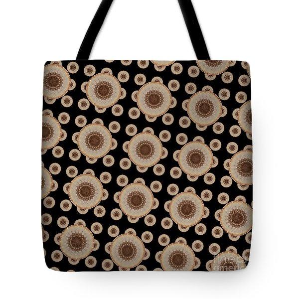 Brown And Black Mandala Pattren Tote Bag by Saribelle Rodriguez