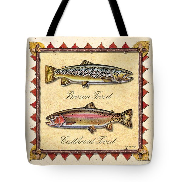 Brown And Cutthroat Creme Tote Bag
