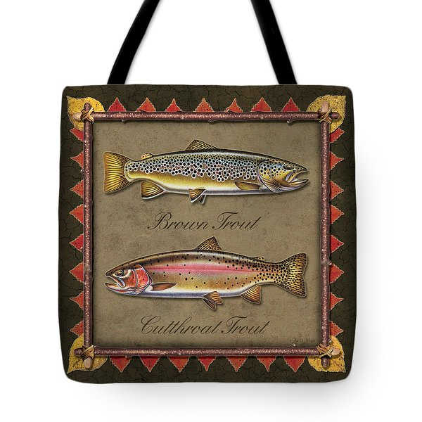 Brown And Cutthroat Trout Tote Bag