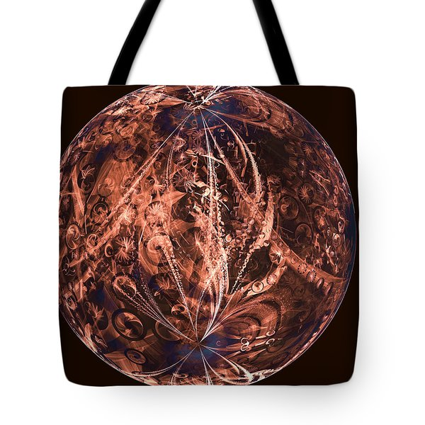 Brown Artificial Planet Tote Bag by Ernst Dittmar