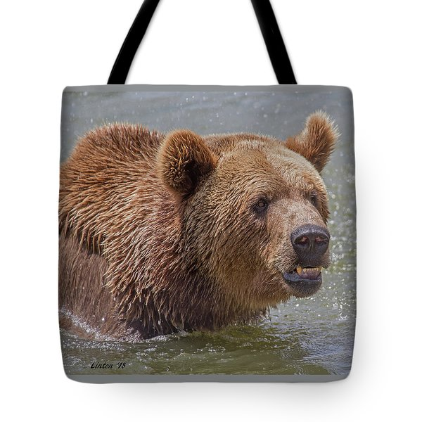 Brown Bear 10 Tote Bag