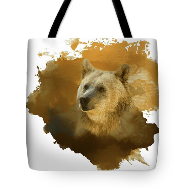 Tote Bag featuring the painting Brown Bear by Steven Richardson