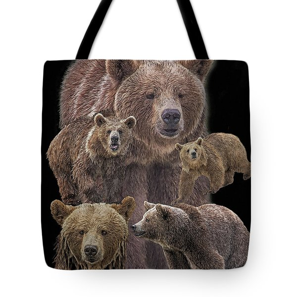 Brown Bears 8 Tote Bag