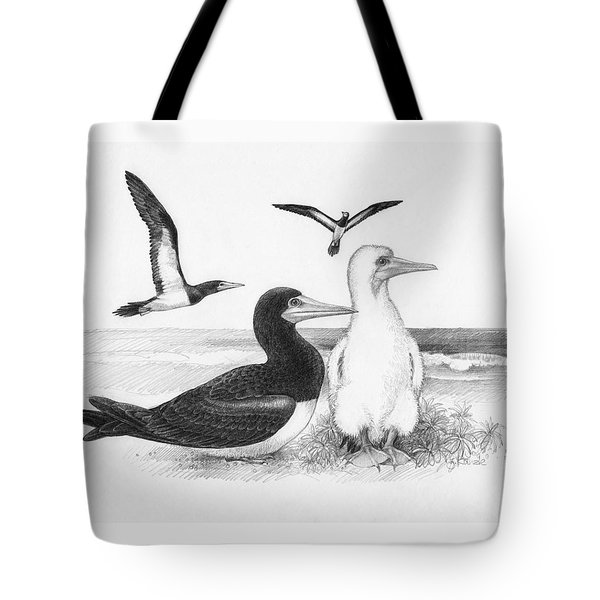 Brown Boobies Tote Bag