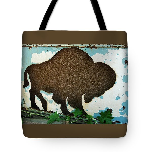 Tote Bag featuring the photograph Brown Buffalo by Larry Campbell