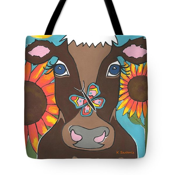 Brown Cow Tote Bag