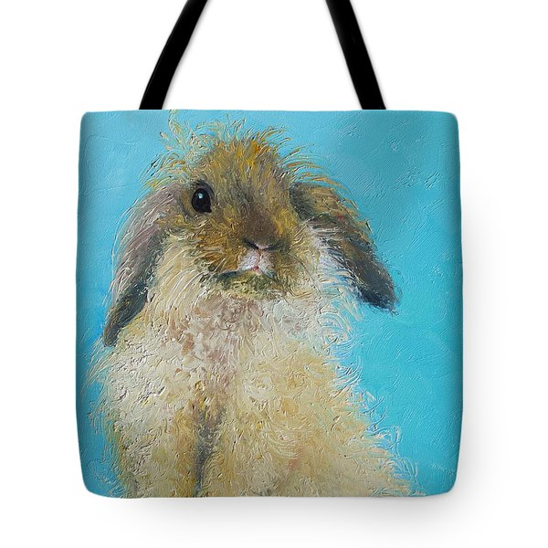 Brown Easter Bunny Tote Bag