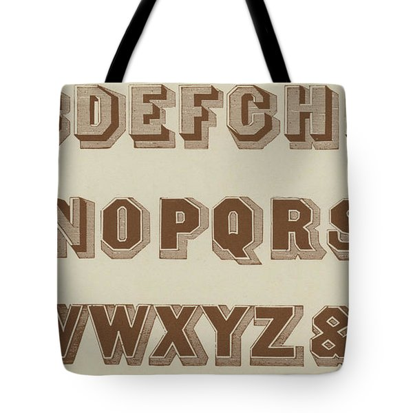 Brown Egyptian Shaded Vintage Font Tote Bag