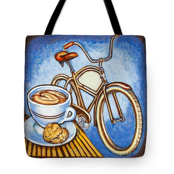 Brown Electra Delivery Bicycle Coffee And Amaretti Tote Bag