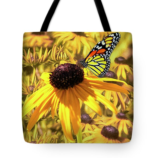 Brown Eyed Susens And The Monarch Tote Bag by Diane Schuster