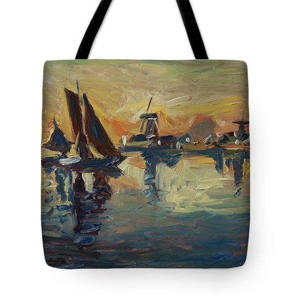 Brown Fleet On The Zaan Tote Bag