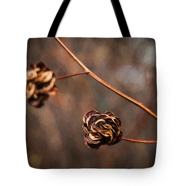 Brown Flower Seed Tote Bag