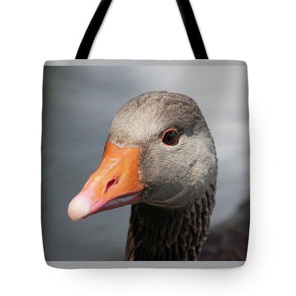 Brown Goose Tote Bag
