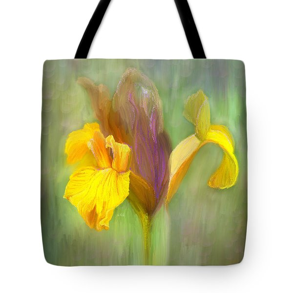 Brown Iris Tote Bag by Angela A Stanton