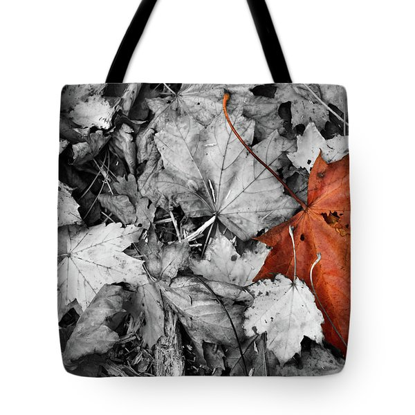 Brown Maple Leaf Tote Bag