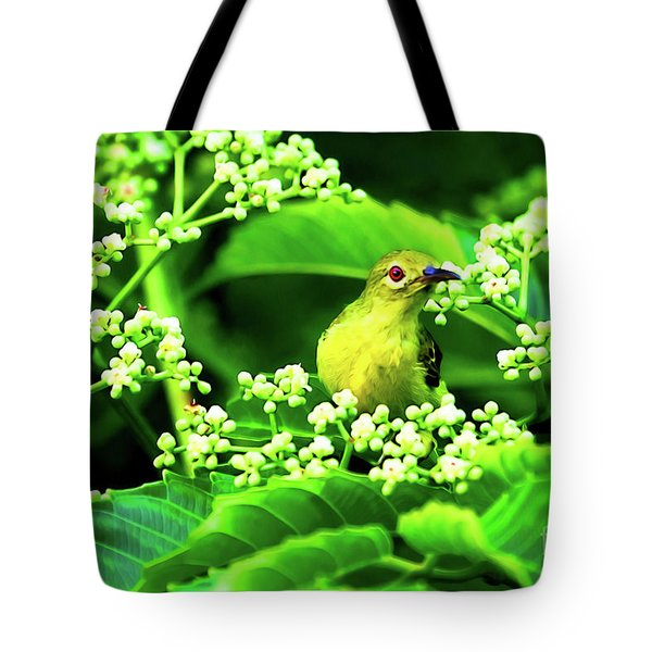 Brown Neck Sunbird Tote Bag