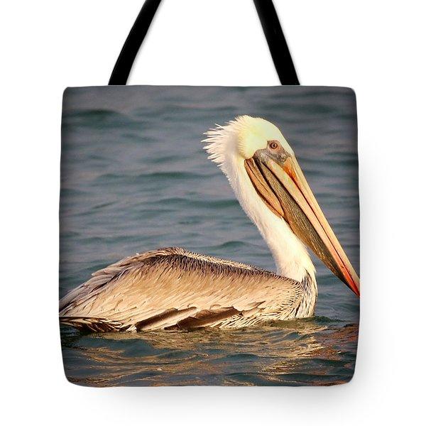 Brown Pelican Floating Tote Bag