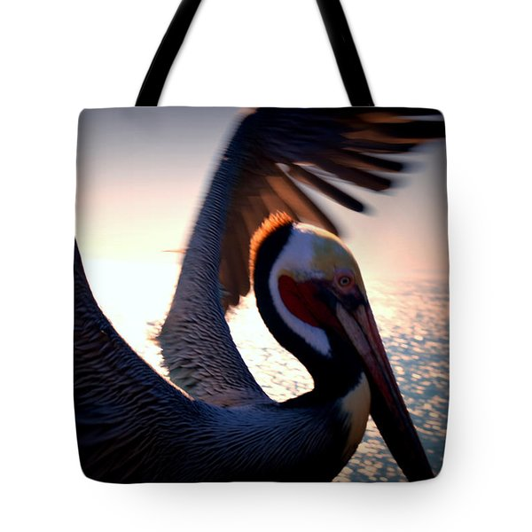 Brown Pelican Tote Bag by Nature Macabre Photography
