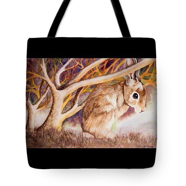 Brown Rabbit Tote Bag