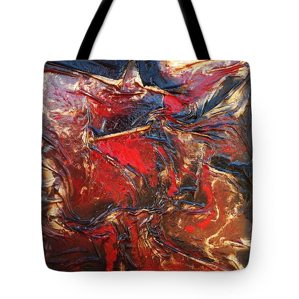 Brown, Red And Gold Tote Bag