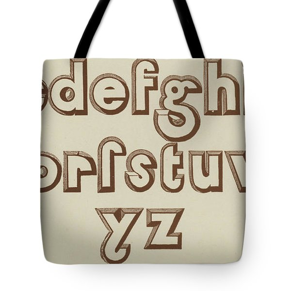 Brown Small Relief Font Tote Bag