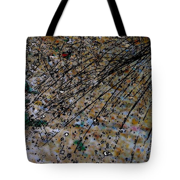 Brown Splatter Tote Bag