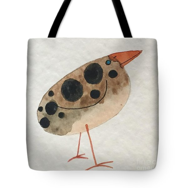 Brown Spotted Bird Tote Bag