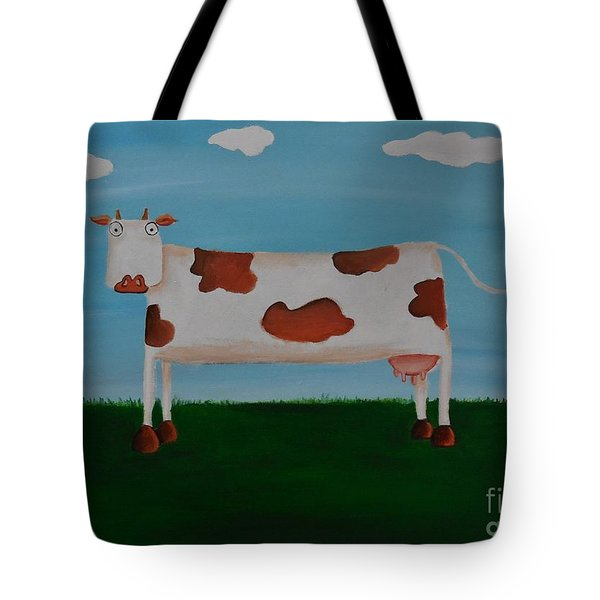 Brown Spotted Cow Tote Bag